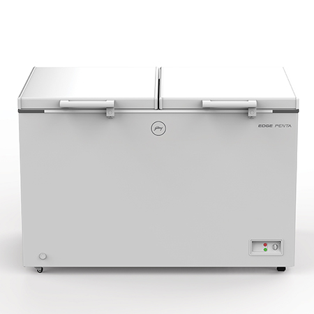Godrej Edge Penta Hard Top 425 Ltr range double door convertible chest Freezer - DH EPenta 425E 51COMFDDM
