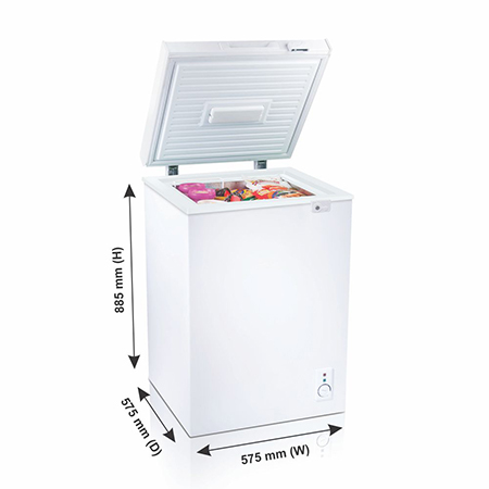 Godrej Hard Top 110 Ltr range single door convertible chest freezer - GCHW110R6SHC