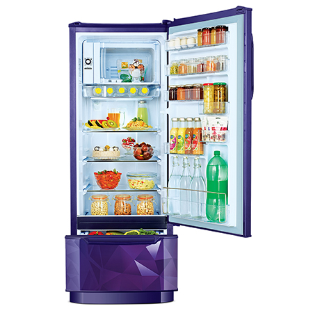 Godrej Edge Duo 255 Ltr 3 Star Direct Cool Single Door Refrigerator - RD EDGEDUO 270C 33 TDI PS BL